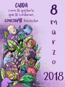 Cartel 8 de marzo Dia de la mujer