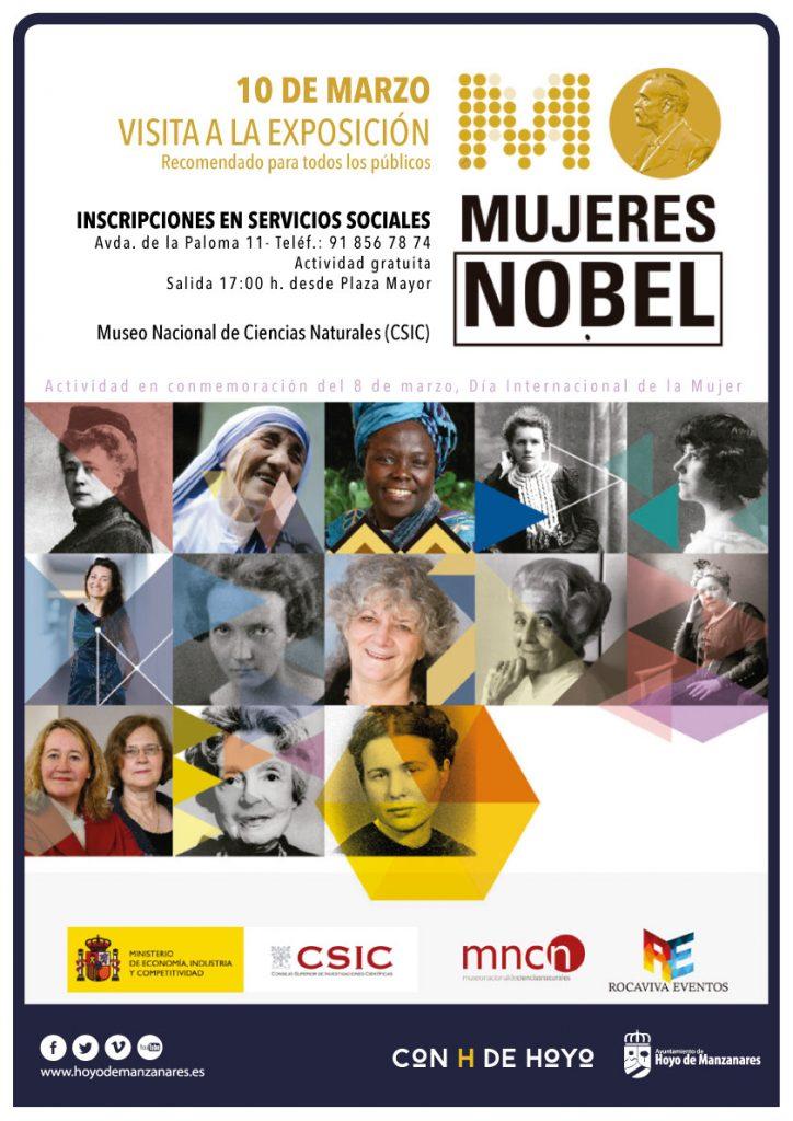 cartel visita a la exposición mujeres nobel