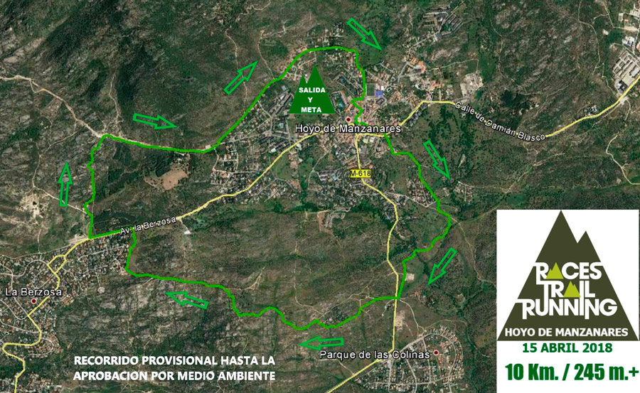 Recorrido 10 Km Races Trail Running