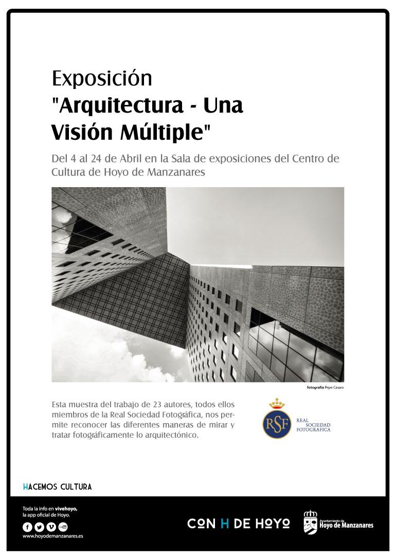 """Cartel Exposición """"Arquitectura - Una Visión Múltiple"""""""