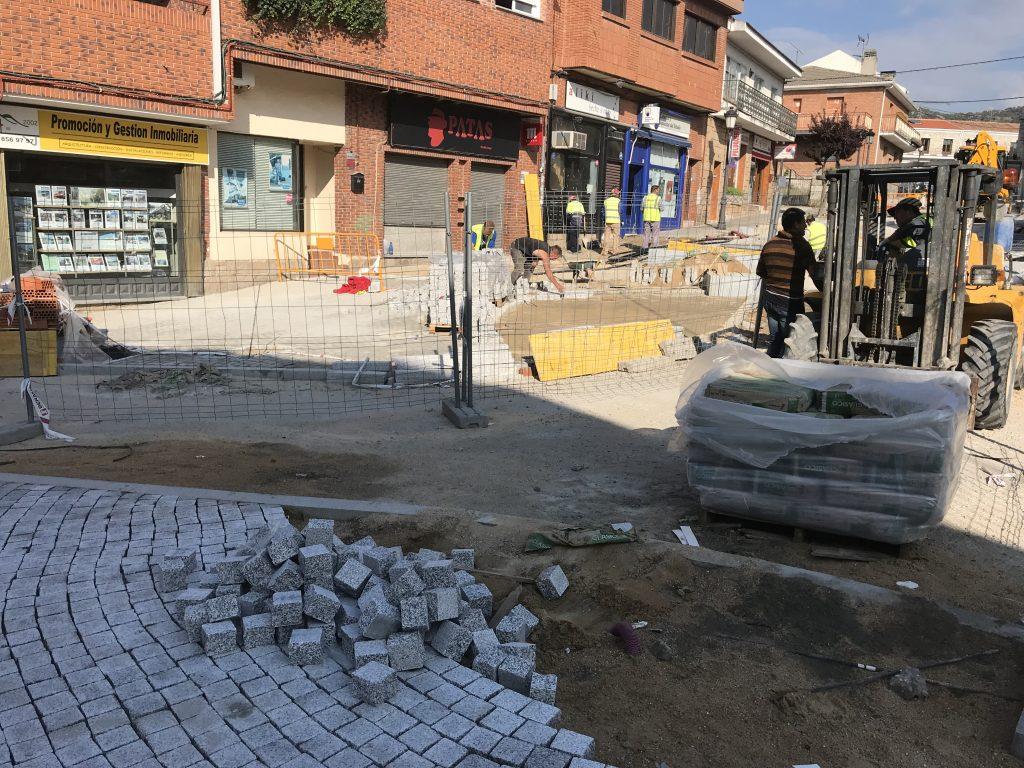 Obras Plaza de la Iglesia. Semana del 21 de mayo