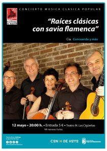 cartel raices clasicas con savia flamenca