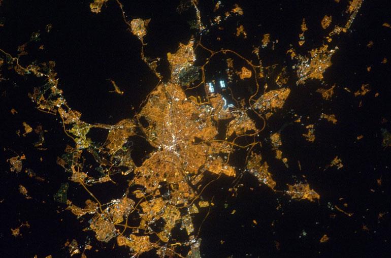 Contaminacion luminica Comunidad de Madrid